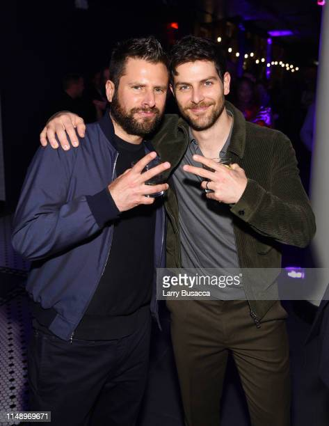 James Roday and David Giuntoli of A Million Little Things attends the Entertainment Weekly PEOPLE New York Upfronts Party on May 13 2019 in New York...