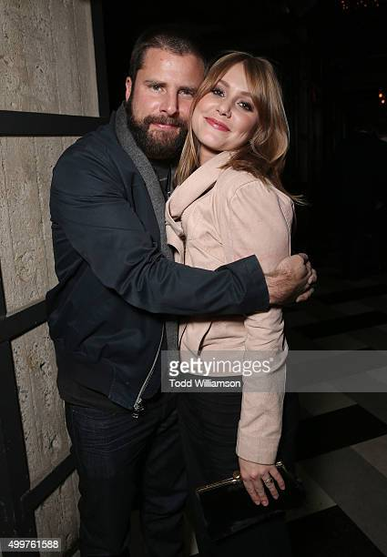 James Roday and Julianna Guill attend the after party for 'Christmas Eve' Premiere Presented By Zija on December 2 2015 in Los Angeles California