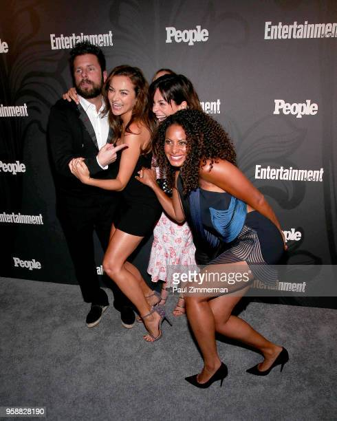 James Roday Christina Ochoa Stephanie Szostak and Christina Moses attend the 2018 Entertainment Weekly PEOPLE Upfront at The Bowery Hotel on May 14...