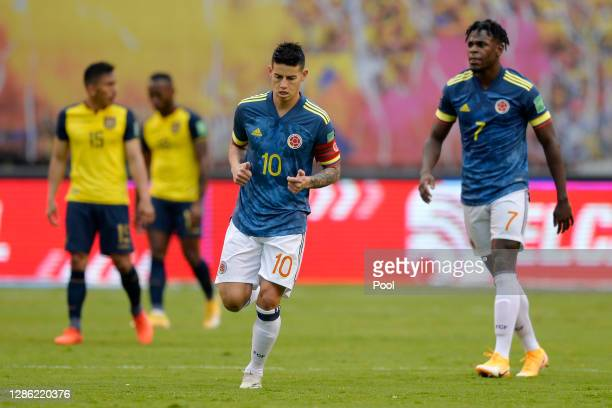 James Rodríguez of Colombia James Rodríguez of Colombia the first goal of his team during a match between Ecuador and Colombia as part of South...