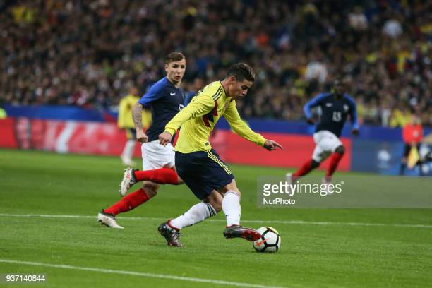 James Rodriguez 10 during the friendly football match between France and Colombia at the Stade de France in SaintDenis on the outskirts of Paris on...