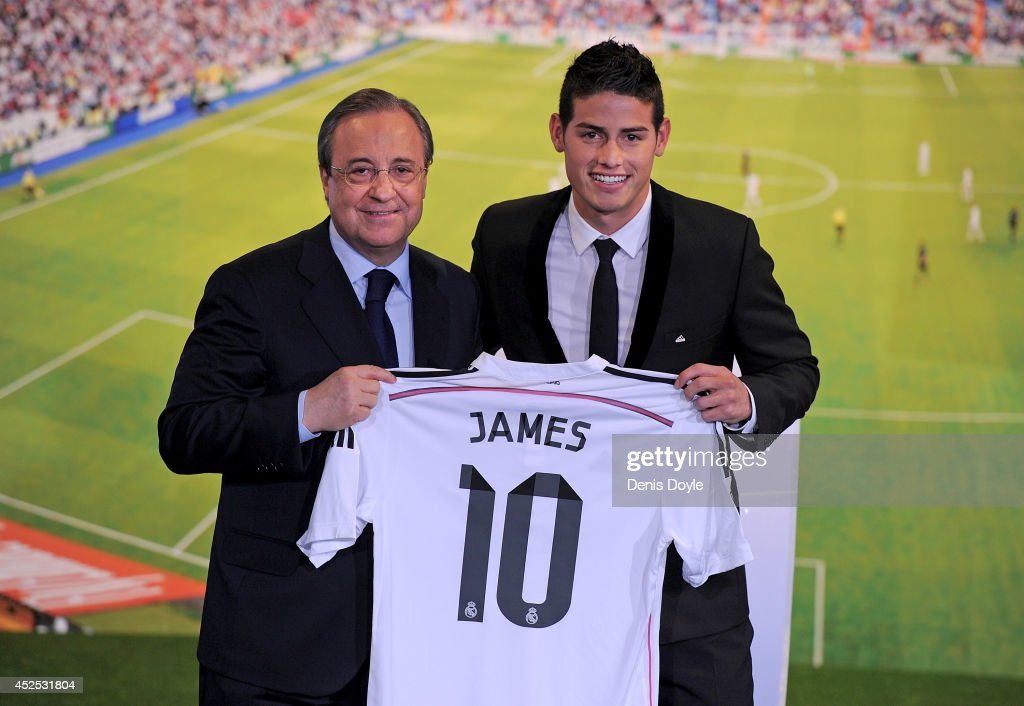James Rodriguez Officially Unveiled At Real Madrid : News Photo