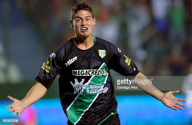 James Rodriguez of Banfield celebrates scored goal during their match as part of the Apertura Primera A on November 14 2009 in Buenos Aires Argentina