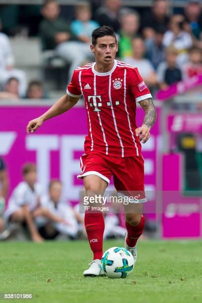 James Rodriguez of Bayern Muenchen controls the ball during the Telekom Cup 2017 Final between SV Werder Bremen and FC Bayern Muenchen at Borussia...