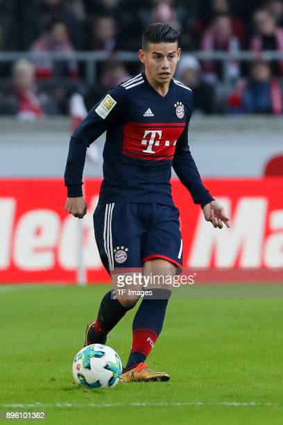 James Rodriguez of Bayern Muenchen controls the ball during the Bundesliga match between VfB Stuttgart and FC Bayern Muenchen at MercedesBenz Arena...