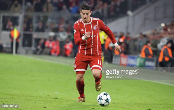 James Rodriguez of Bayern Muenchen in action during the UEFA Champions League group B match between Bayern Muenchen and Paris SaintGermain at Allianz...