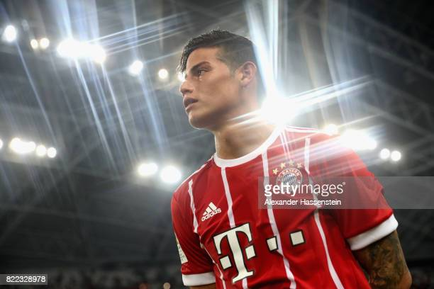 James Rodriguez of Bayern Muenchen looks on after the International Champions Cup 2017 match between Bayern Muenchen and Chelsea FC at National...