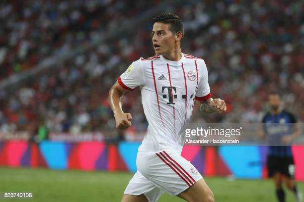 James Rodriguez of Bayern Muenchen looks on during the International Champions Cup 2017 match between Bayern Muenchen and Inter Milan at National...