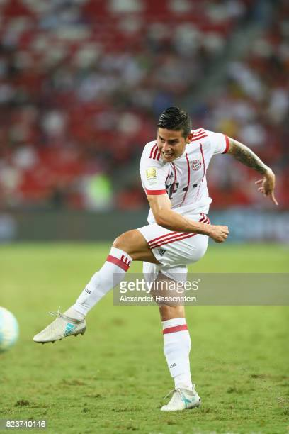 James Rodriguez of Bayern Muenchen runs with the ball with during the International Champions Cup 2017 match between Bayern Muenchen and Inter Milan...