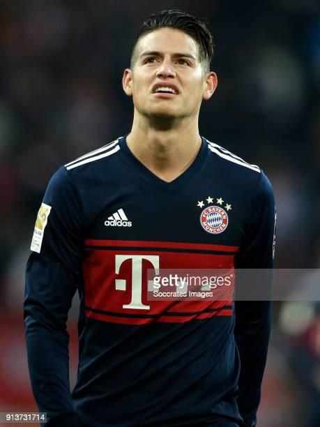 James Rodriguez of Bayern Munchen during the German Bundesliga match between FSV Mainz v Bayern Munchen at the Opel Arena on February 3 2018 in Mainz...
