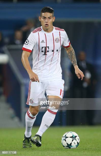 James Rodriguez of Bayern Munich during the UEFA Champions League group B match between Paris SaintGermain and Bayern Muenchen at Parc des Princes on...