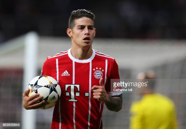 James Rodriguez of Bayern Munich during the UEFA Champions League Semi Final Second Leg match between Real Madrid and Bayern Muenchen at the Bernabeu...