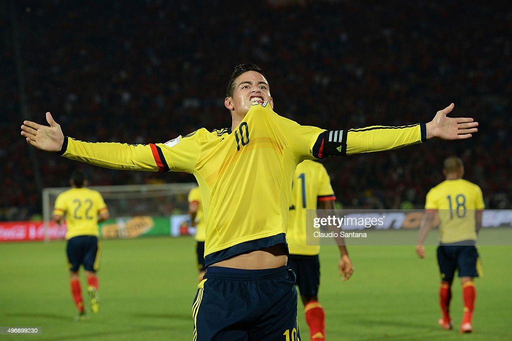 Chile v Colombia - FIFA 2018 World Cup Qualifiers : News Photo
