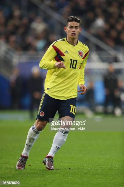 James Rodriguez of Colombia during the International Friendly match between France and Colombia at Stade de France on March 23 2018 in Paris France