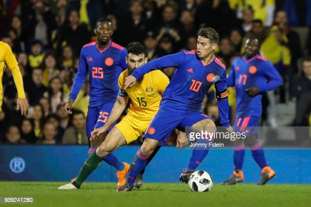 James Rodriguez of Colombia during the International friendly match between Colombia and Australia at Craven Cottage on March 27 2018 in London...