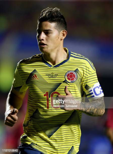 James Rodriguez of Colombia in action during the Copa America Brazil 2019 group B match between Colombia and Qatar at Morumbi Stadium on June 19 2019...