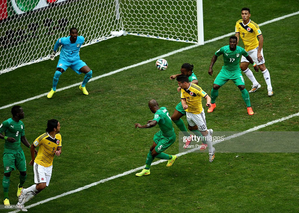 Colombia v Cote D'Ivoire: Group C - 2014 FIFA World Cup Brazil : News Photo