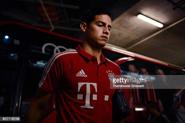 James Rodriguez of FC Bayern Muenchen arrives during the International Champions Cup match between Chelsea FC and FC Bayern Munich at National...
