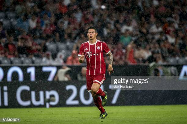 James Rodriguez of FC Bayern Muenchen during the Audi Cup 2017 match between Bayern Muenchen and Liverpool FC at Allianz Arena on August 1 2017 in...