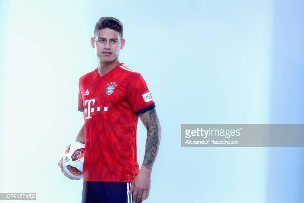 James Rodriguez of FC Bayern Muenchen during the FC Bayern Muenchen and Paulaner Photo Session at FGV Schmidtle Studios on September 2 2018 in Munich...