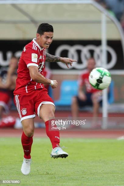 James Rodriguez of FC Bayern Muenchen in action during the 2017 International Champions Cup football match between AC Milan and FC Bayern Muenchen on...