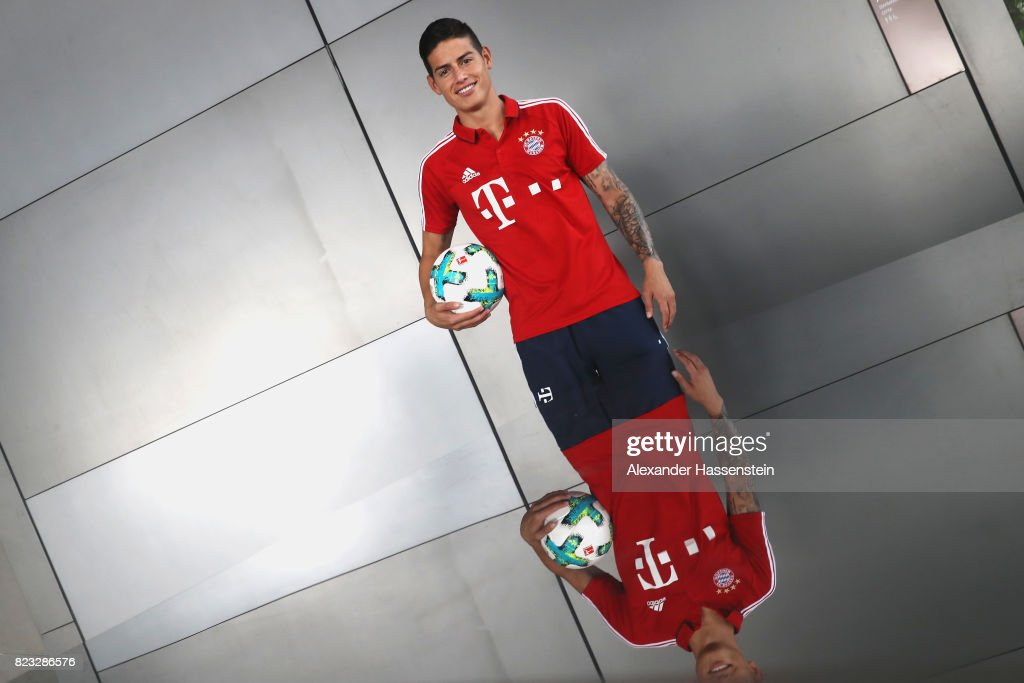 James Rodriguez of FC Bayern Muenchen poses for a portrait at JW Marriott Singapore South Beach Hotel during the Audi Summer Tour 2017 on July 26, 2017 in Singapore.