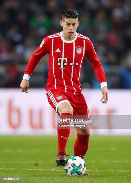 James Rodriguez of FC Bayern Munchen during the German Bundesliga match between Borussia Monchengladbach v Bayern Munchen at the Borussia Park on...