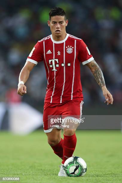 James Rodriguez of Muenchen runs with the ball during the 2017 International Champions Cup China match between FC Bayern and AC Milan at Universiade...