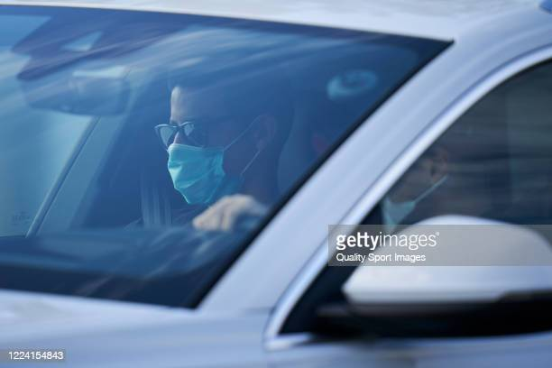 James Rodriguez of Real Madrid arrives to the training session at Valdebebas training ground on May 11 2020 in Madrid Spain