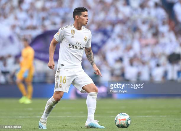 MADRID SPAIN AUGUST 24 James Rodriguez of Real Madrid CF in action during the Liga match between Real Madrid CF and Real Valladolid CF at Estadio...