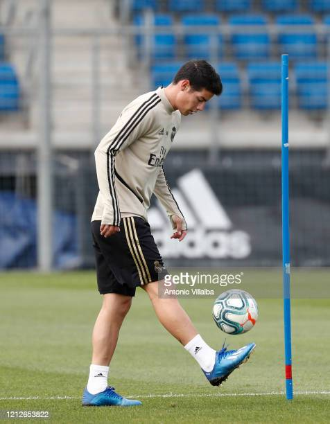 James Rodriguez of Real Madrid during a first training session since the Covid19 pandemic at Valdebebas training ground on May 11 2020 in Madrid Spain