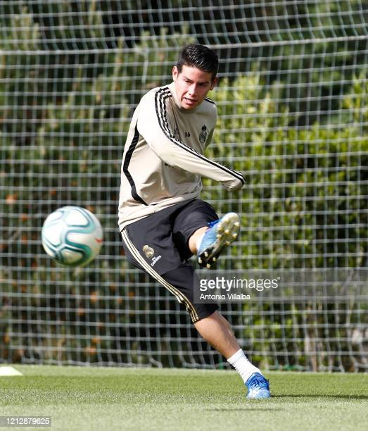 James Rodriguez of Real Madrid during a third training session since the Covid19 pandemic at Valdebebas training ground on May 13 2020 in Madrid Spain