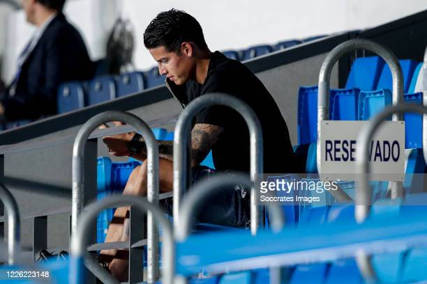 James Rodriguez of Real Madrid during the La Liga Santander match between Real Madrid v Deportivo Alaves at the Stadium Ciudad Deportiva Real Madrid...