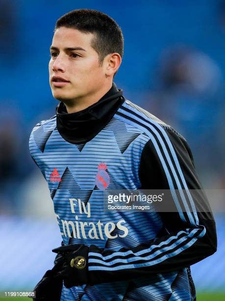 James Rodriguez of Real Madrid during the Spanish Copa del Rey match between Real Madrid v Real Sociedad at the Santiago Bernabeu on February 6, 2020...