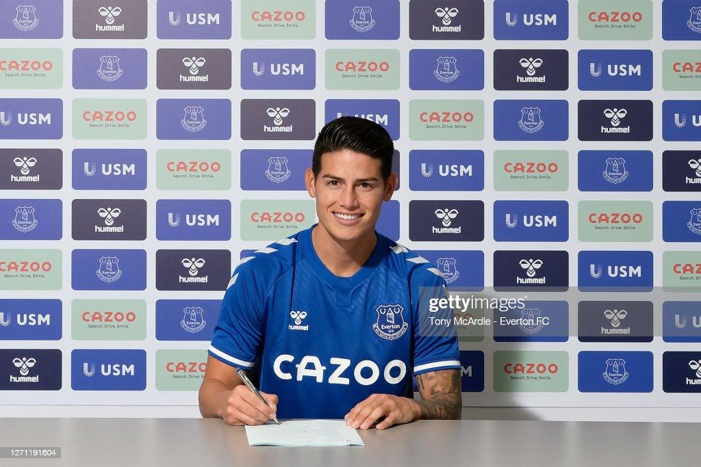 Everton Unveil New Signing James Rodriguez : News Photo