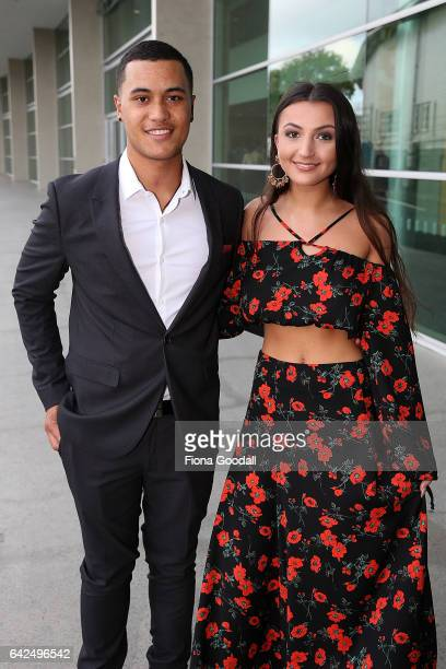 James Rolleston and Ayaesha Taylor arrive ahead of the NZ Film Awards also known as 'The Moas' at ASB Showgrounds on February 18 2017 in Auckland New...