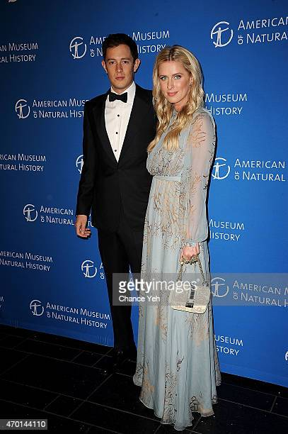 James Rothschild and Nicky Hilton attend 2015 Museum Dance 'Masquerade Retrograde' at American Museum of Natural History on April 17 2015 in New York...