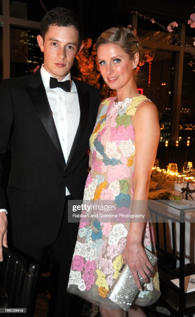 James Rothschild and Nicky Hilton attend the New Yorker's For Children's 10th Anniversary A Fool's Fete Spring Dance at Mandarin Oriental Hotel on April 9, 2013 in New York City.