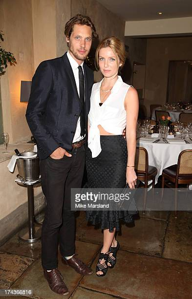 James Rousseau and Annabelle Wallis attend Daphne's evening of dinner dancing at Daphne's on July 24 2013 in London England