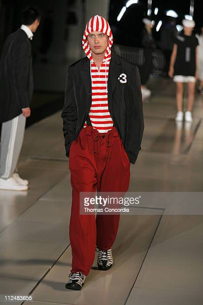 James Rousseau wearing Y3 Spring 2007 during Olympus Fashion Week Spring 2007 Y3 Runway at Pier 40 in New York City New York United States