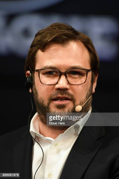 DAZN CEO James Rushton speaks during the JLeague Kick Off Conference at Tokyo International Forum on February 13 2017 in Tokyo Japan