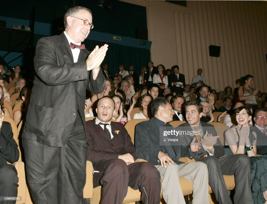 James Schamus, Heath Ledger, Ang Lee, Jake Gyllenhaal and Anne Hathaway