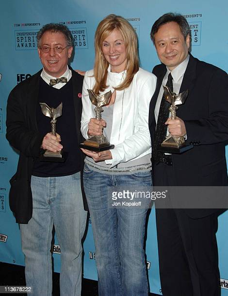"James Schamus winner Best Feature for ""Brokeback Mountain"" Ang Lee winner Best Director for ""Brokeback Mountain"" and Diana Ossana winner Best Feature..."