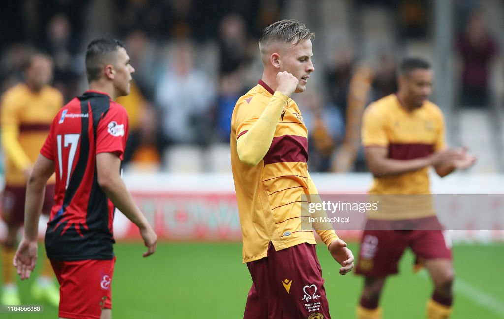 Motherwell v Annan Athletic - Scottish League Cup : News Photo