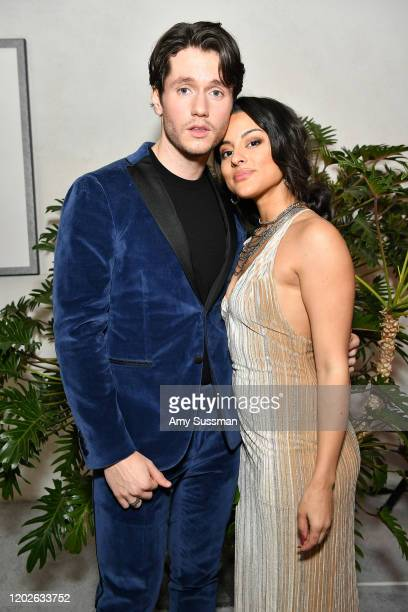 James Scully and Carmela Zumbado attend the 22nd CDGA at The Beverly Hilton Hotel on January 28 2020 in Beverly Hills California