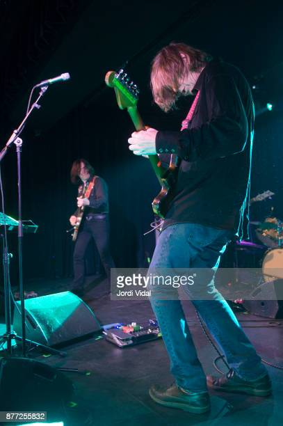 James Sedwards and Thurston Moore perform on stage at Sala Apolo on November 21 2017 in Barcelona Spain