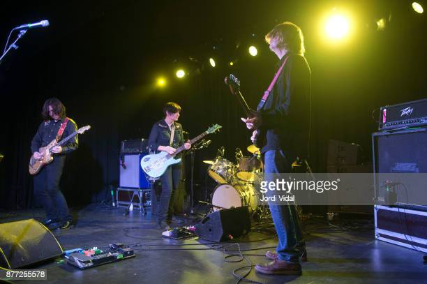 James Sedwards Debbie Googe Steve Shelley and Thurston Moore perform on stage at Sala Apolo on November 21 2017 in Barcelona Spain