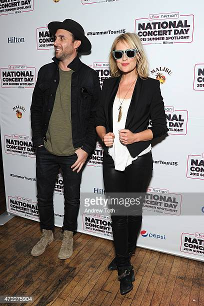 James Shaw and Emily Haines of Metric attend the 2015 Summer Spotlight Concert at Irving Plaza on May 5 2015 in New York City