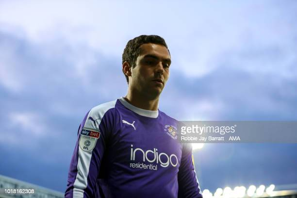 James Shea of Luton Town during the Carabao Cup First Round match between West Bromwich Albion and Luton Town at The Hawthorns on August 14 2018 in...