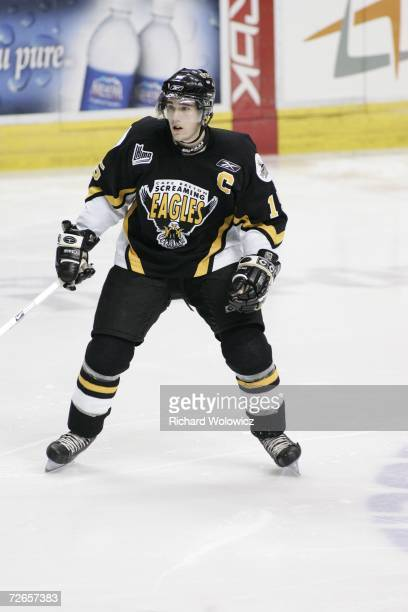 James Sheppard of the Cape Breton Screaming Eagles skates against the Quebec City Remparts at Colisee Pepsi on November 15, 2006 in Quebec City,...